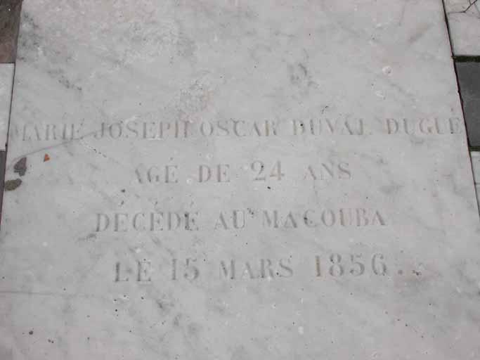 Tombeau des familles Duval Dogué, de Reynal de Saint Michel, Marraud des Grottes