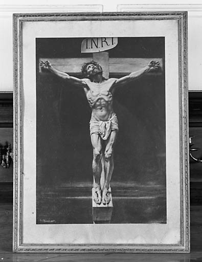 Photographie : Christ en croix implorant le Père