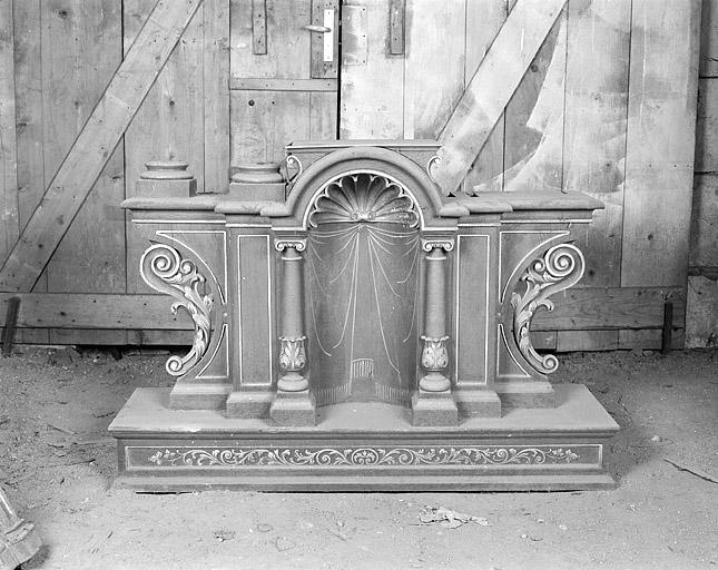ensemble de 2 retables de l'autel du Sacré-Coeur et de l'autel Notre-Dame