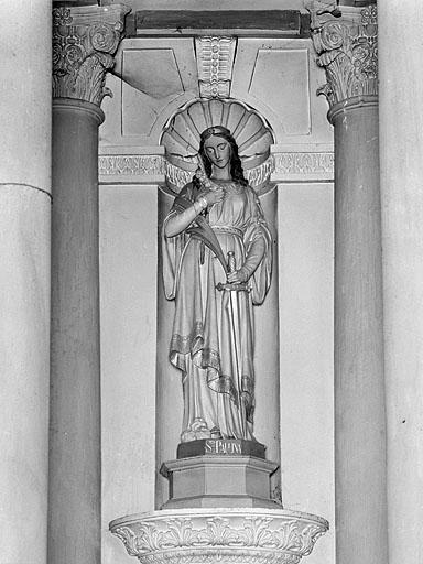 ensemble de 19 statues : saints et saintes