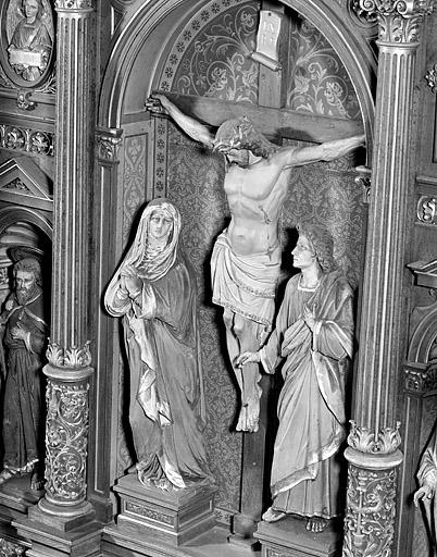 groupe sculpté : la Crucifixion