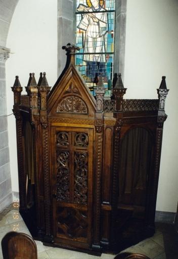 chaire à prêcher, ensemble de mobilier liturgique