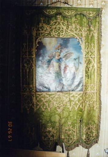 bannière de saint Sébastien et saint Michel