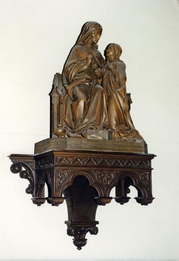 Groupe sculpté : sainte Anne enseignant à la Vierge