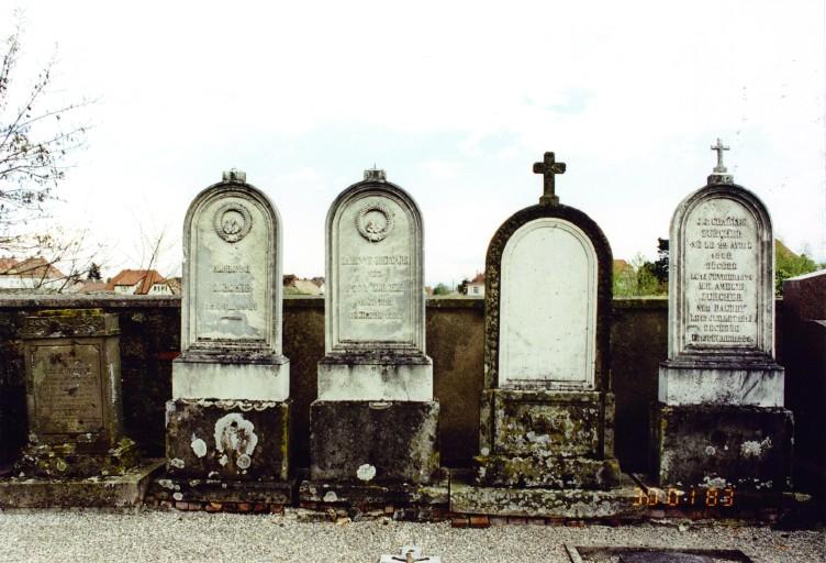 Stèles funéraires de la famille Zurcher