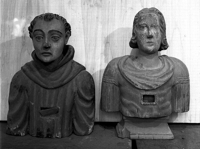 2 bustes-reliquaires