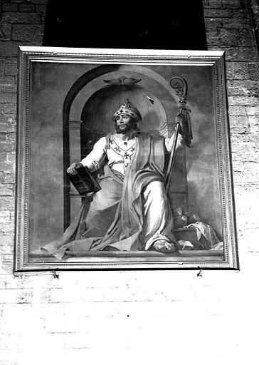 tableau et son cadre : saint Nizier, dit saint Pothin