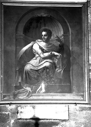 tableau et son cadre : saint Matthieu