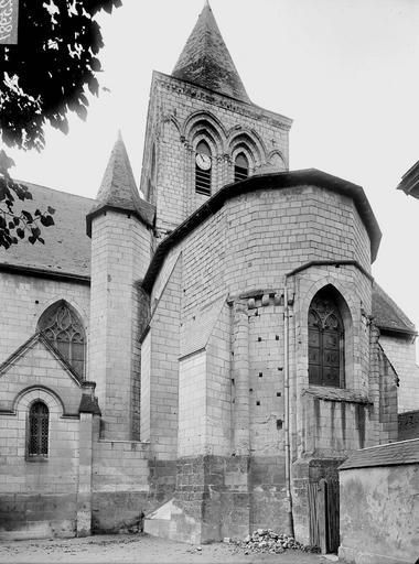 Photo de Abside et clocher du monument Eglise Saint-Epain