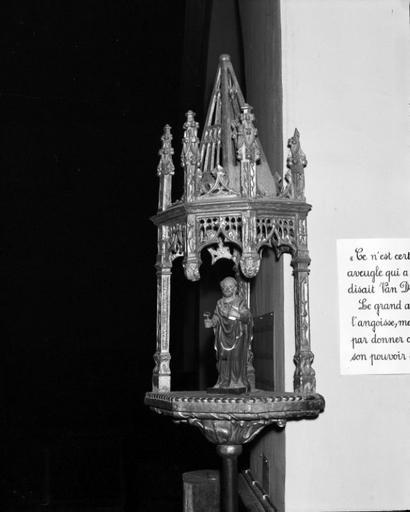bâton de procession (bâton de confrérie), style gothique