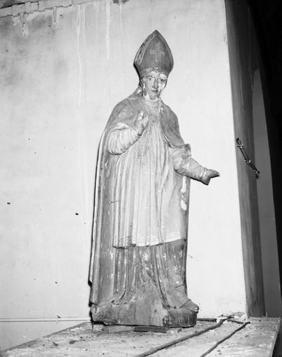 statue (petite nature) : évêque