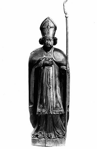 statue (petite nature) : saint Loup