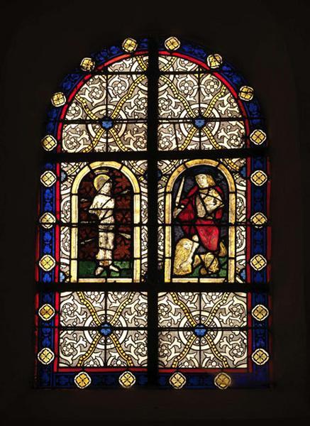 verrière : saint Sébastien et saint Adrien