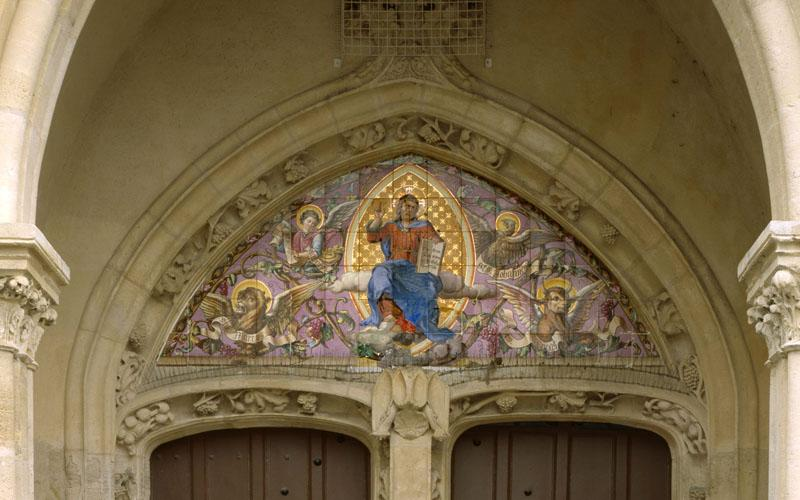 tympan : Christ en majesté, Tétramorphe