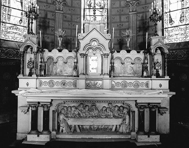 ensemble autel, tabernacle, maître-autel