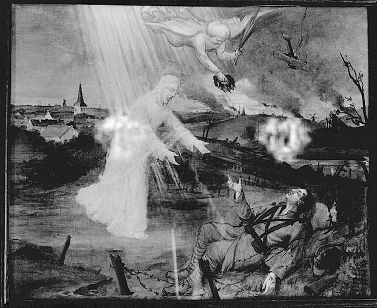 tableau : Apparition du Christ à un soldat