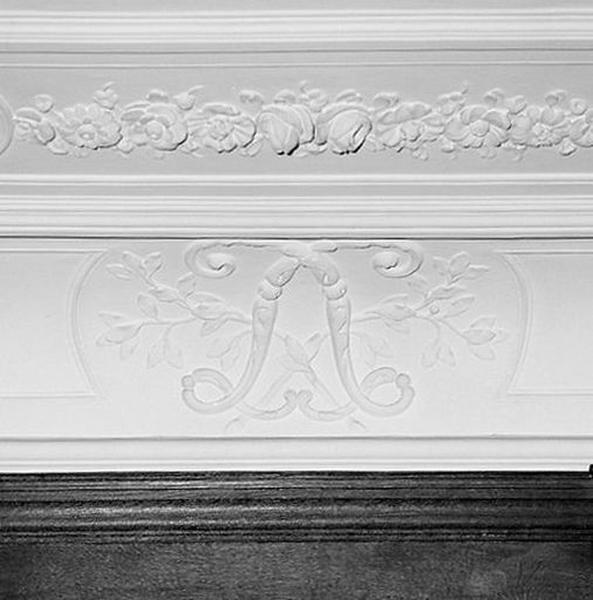 Ensemble du décor du plafond et de la corniche de la salle des mariages
