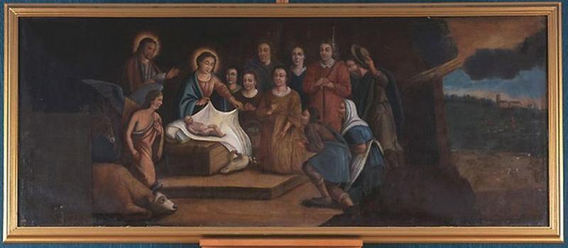 Tableau : Adoration des bergers (La Nativité)