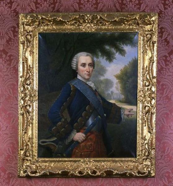 Tableau et cadre : Portrait en buste du duc Emmanuel de Croy