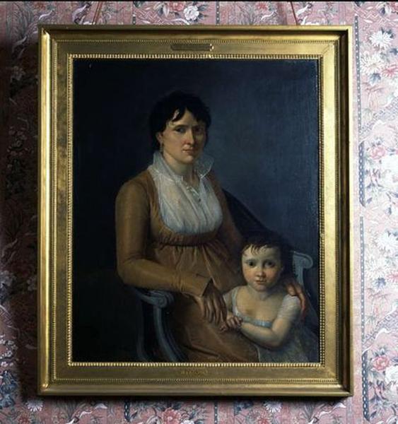Tableau : Portrait de femme avec une petite fille