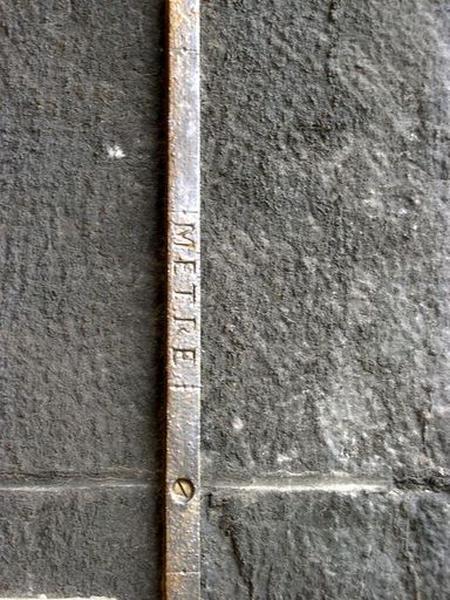 Instrument de mesure des longueurs (mètre étalon)