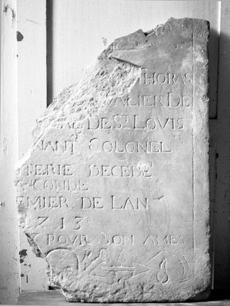 Dalle funéraire de Joseph Thoras de Bermont