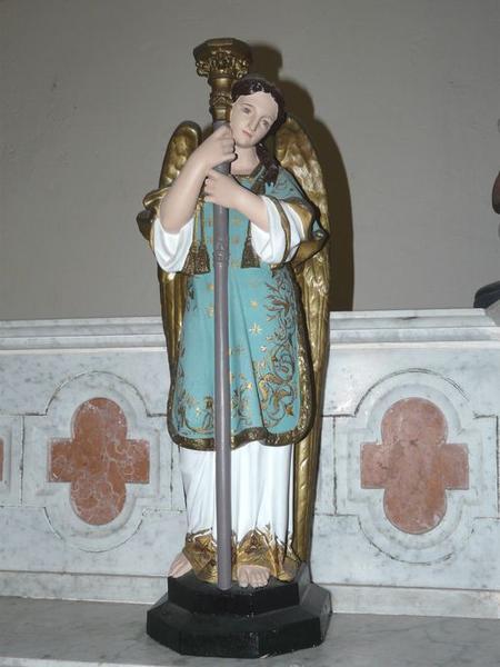 statue (statuette) : Ange porte-flambeau