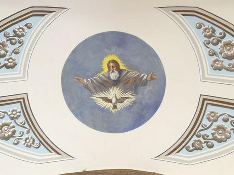 peintures monumentales : Dieu le Père, colombe du Saint-Esprit