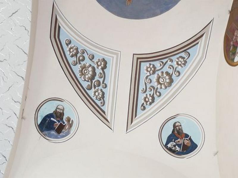 peintures monumentales : Saint Mathieu, saint Luc