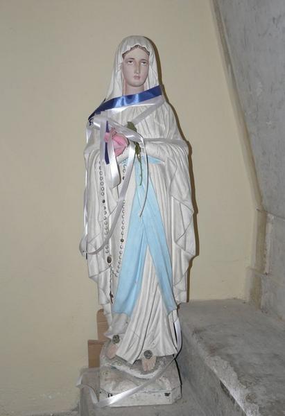statue (statuette) : Notre-Dame de Lourdes