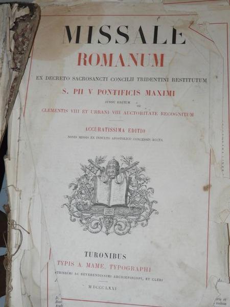 livre liturgique : missel romain No 1