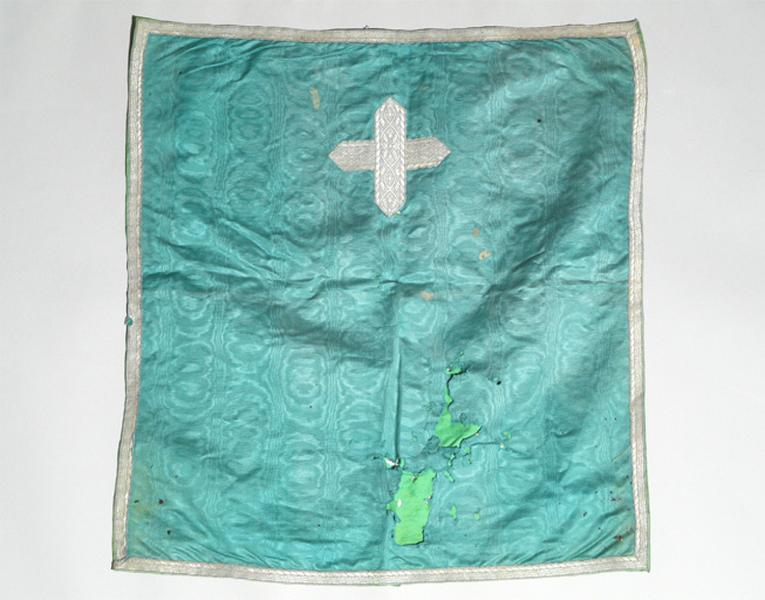 bourse de corporal, voile de calice (ornement vert) No 3
