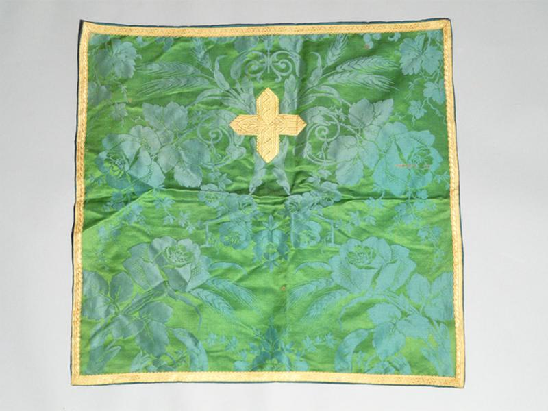 bourse de corporal, voile de calice (ornement vert) No 4