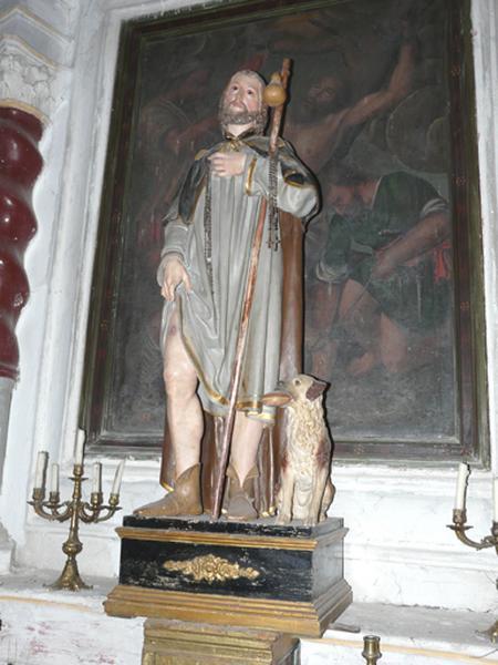 statue de procession (petite nature) : Saint Roch