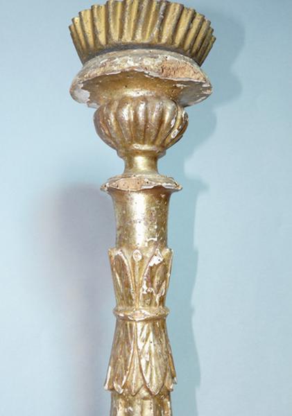 ensemble de deux chandeliers d'autel