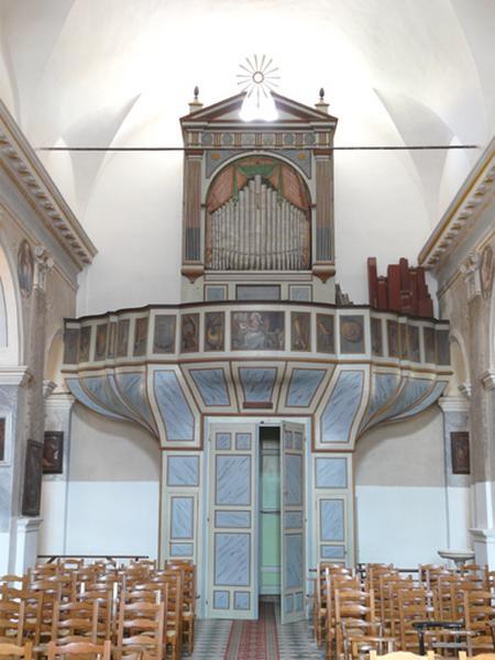 ensemble de l'orgue (tribune d'orgue, buffet d'orgue, partie instrumentale de l'orgue)