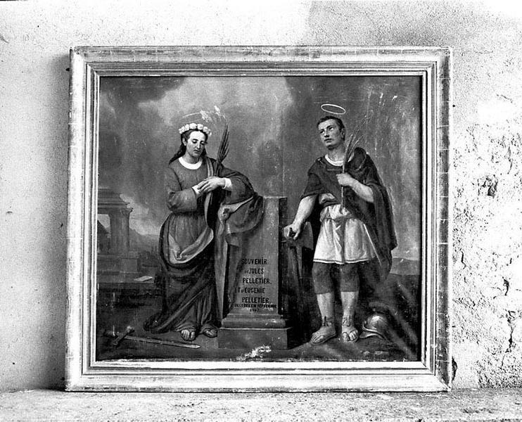 tableau : sainte Eugénie et saint Jules