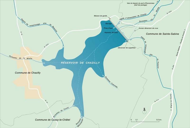 réservoir de Chazilly (canal de Bourgogne)