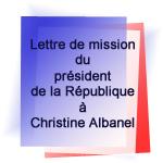 Lettre de mission du président de la République        à Christine Albanel