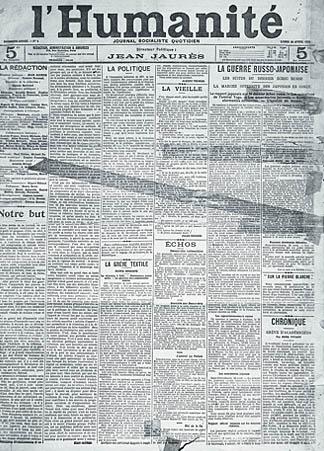 Une » de l'humanité du 18 avril 1904, collection du journal l