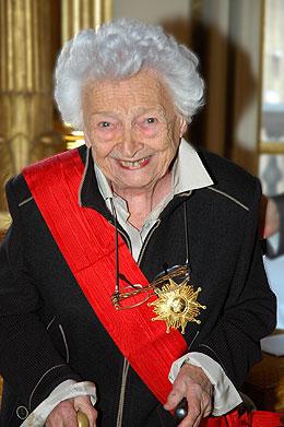 Remise de la Grande Croix de la Légion d'honneur à Christiane Desroches Noblecourt