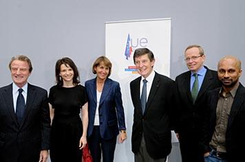 Christine Albanel à la conférence de presse de lancement de la Saison culturelle européenne,