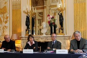 """""""les étoiles du cinéma européen"""" Point presse du 13 novembre 2008 au ministère de la Culture"""