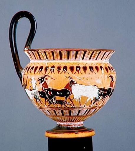 Kyathos h : 14,2 cm - musée du louvre, paris - photo rmn